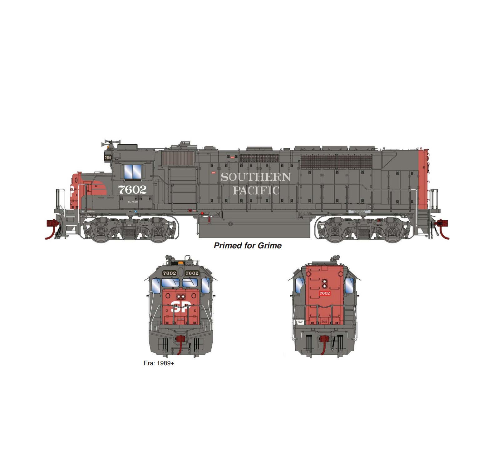 Athearn Genesis ATHG63783, HO EMD GP40P-2 with Tsunami2 Sound & DCC, SP # 7602