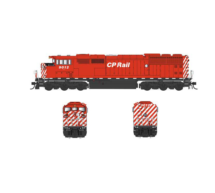Bowser 25009 HO Scale GMD SD40-2F, Std. DC, CP Rail #9021