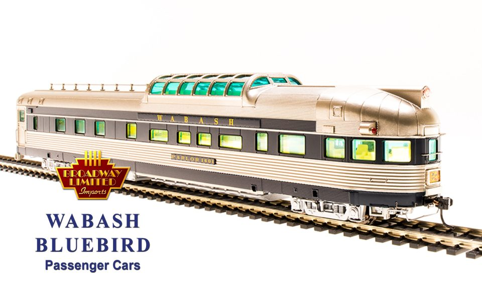 Broadway Limited Imports BLI-1154, HO Wabash Bluebird Dome Observation Car #1601
