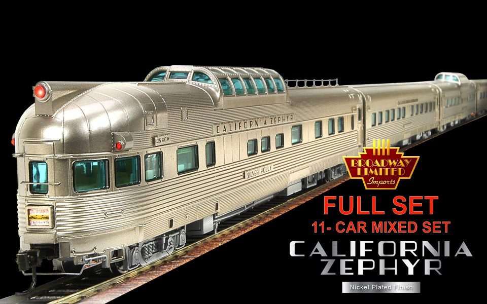 Broadway Limited Imports BLI-1797, HO California Zephyr 11-Car Set A